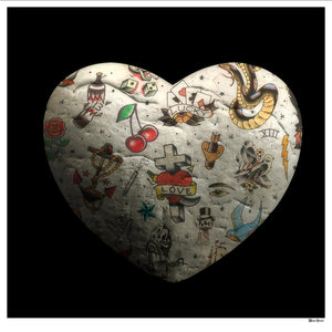 Monica Vincent - 'Tattooed Heart' - Limited Edition Print