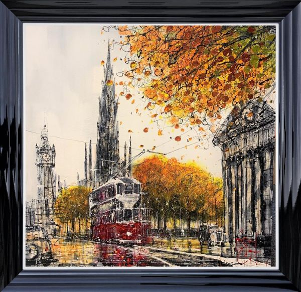 Nigel Cooke - 'Tramlines Into The City' - Original Art