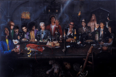 """The Last Supper (Rock 'n Roll)"" by Paul Karslake FRSA (limited edition print)"