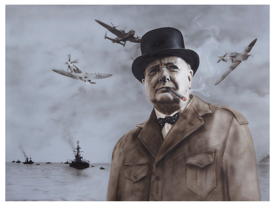 Paul Karslake FRSA - Dunkirk (Winston Churchill) - Limited Edition Print