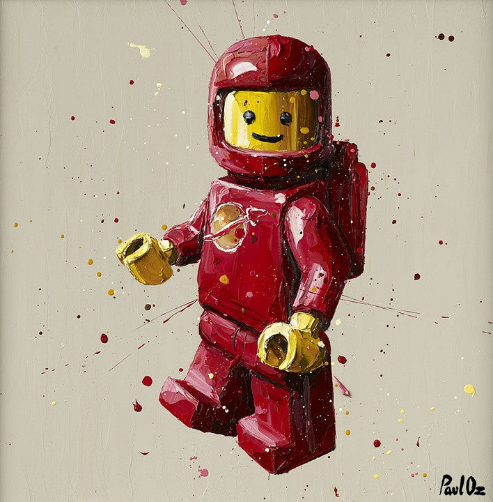 """Red Lego Man"" by Paul Oz (limited edition print)"