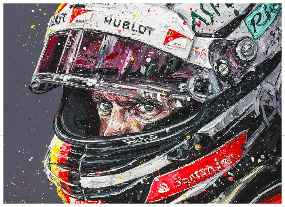 Paul Oz - 'Seb - Focused' (Sebastian Vettel) - Limited Edition