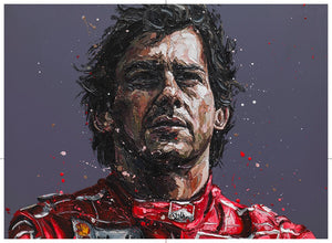 """Senna - 24th Anniversary Commemorative"" by Paul Oz (limited edition print)"