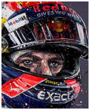 """Simply Lovely"" (Max Verstappen) by Paul Oz (limited edition print)"