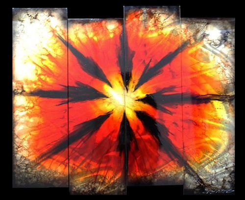 Chris DeRubeis - 'Red Burst' 1500789-6' - Original Art