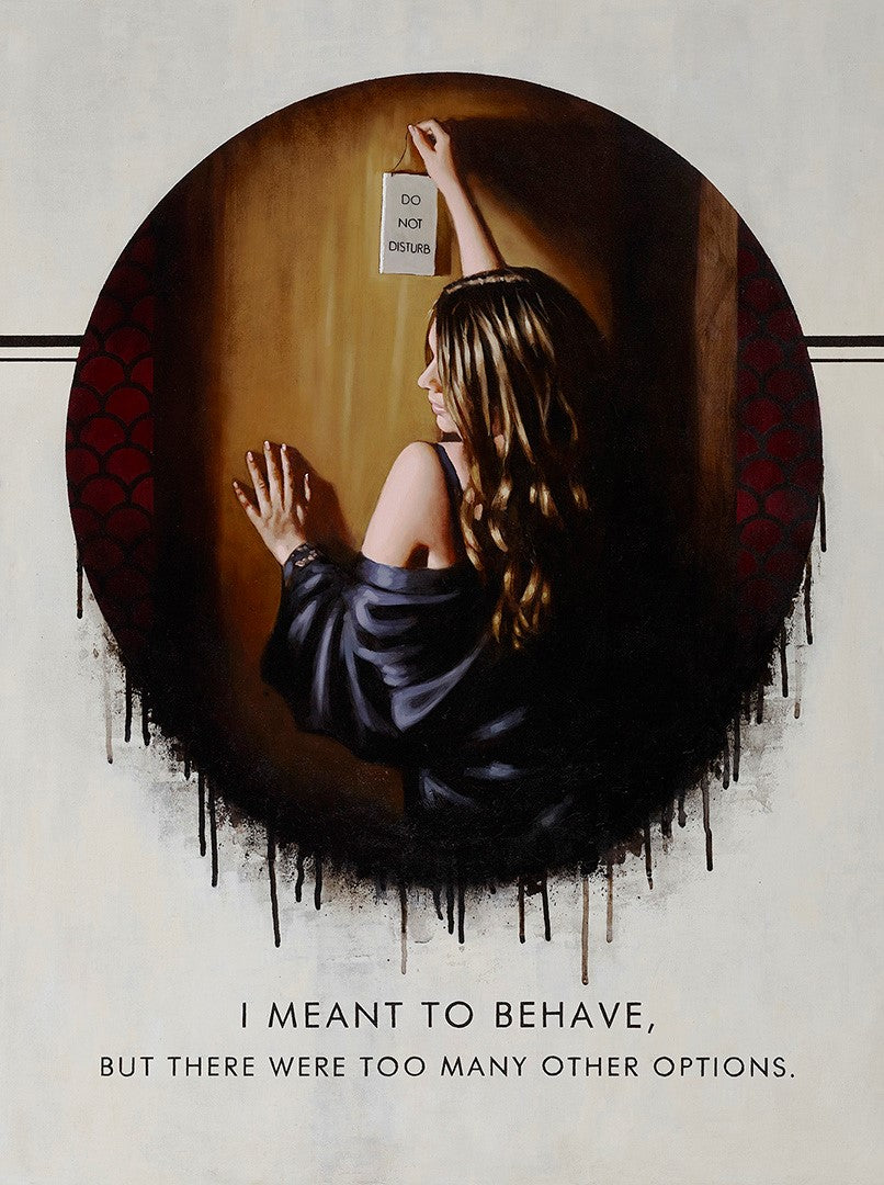 Richard Blunt - 'I Meant To Behave' - Limited Edition Art