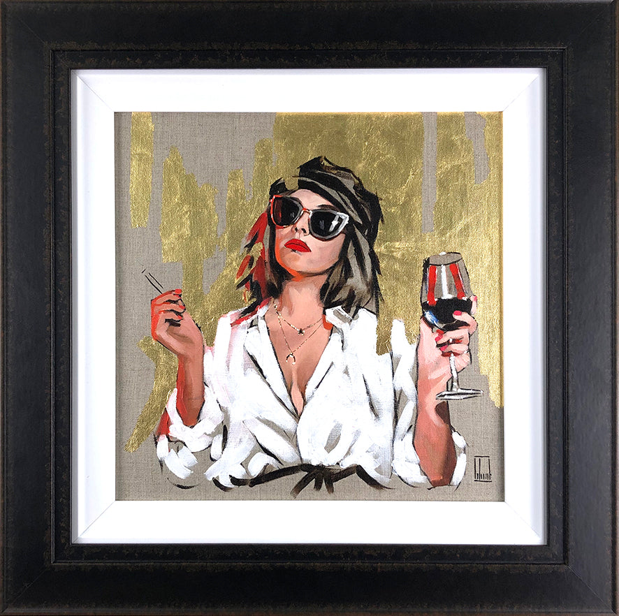 Richard Blunt - 'Parisian Chic' - Framed Original Sketch Art
