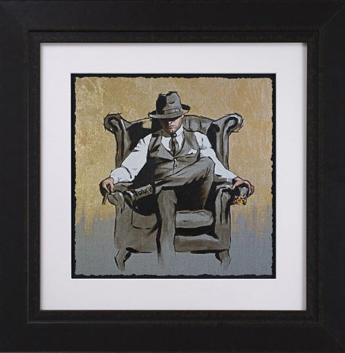 Richard Blunt - 'Self Made Man II' (Metallic) - Framed Sketch Art