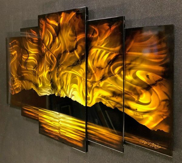 Chris DeRubeis - 'Sunset '5 Gold Panel Original By Derubeis Cons 160700' - Original Art