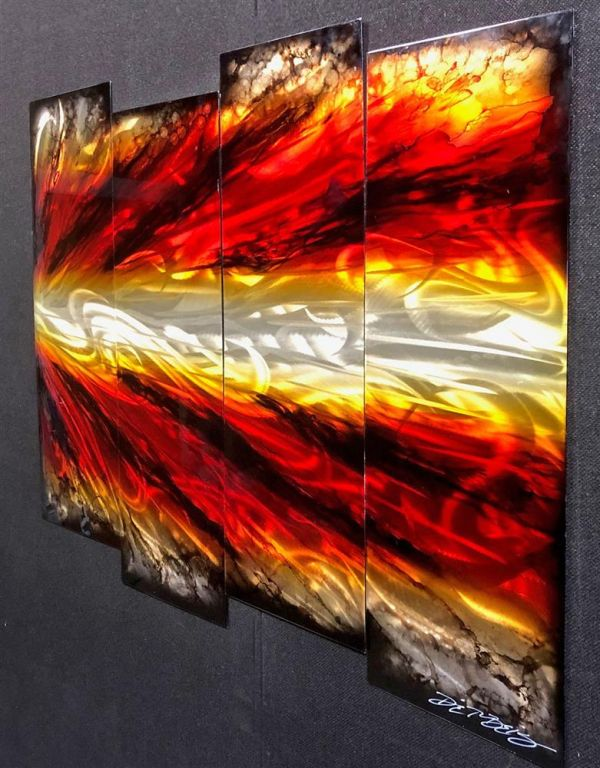 Chris DeRubeis - 'Shockwave 4 Panel In Red 1507235' - Original Art