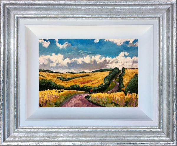 Timmy Mallett - 'Cycling Through the Wolds' - Original Art