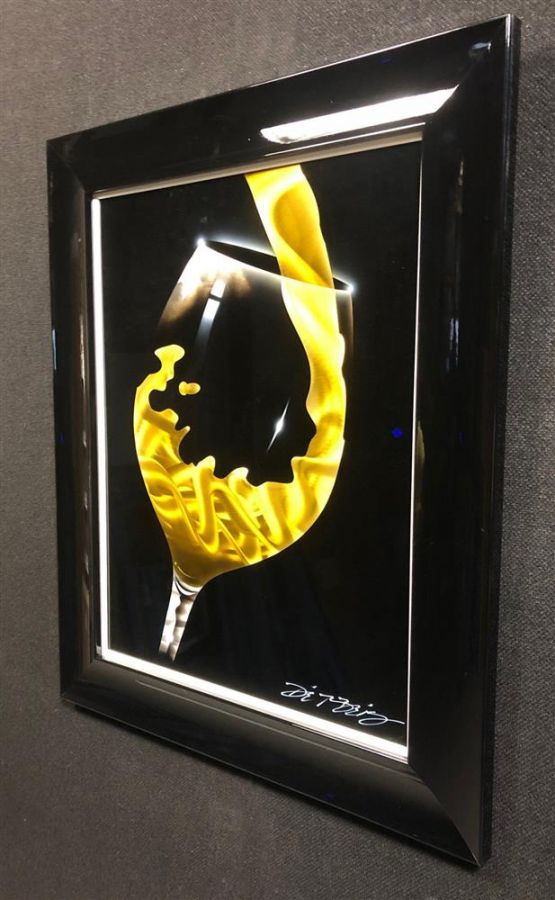 Chris DeRubeis - 'White Pour'- Original Art