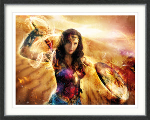 Mark Davies - 'Thunderbolts of Jove!' (Wonder Woman) - Limited Edition