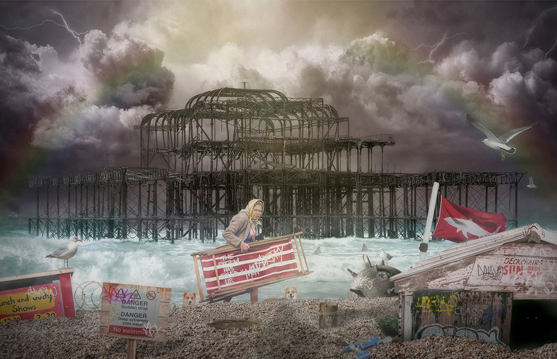JJ Adams - 'West Pier' (Rule Britannia Series) - Limited Edition Print