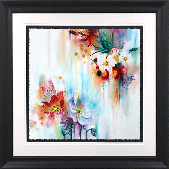 """Spring Blooms"" Botanical Collection by Katy Jade Dobson (framed original oil painting)"