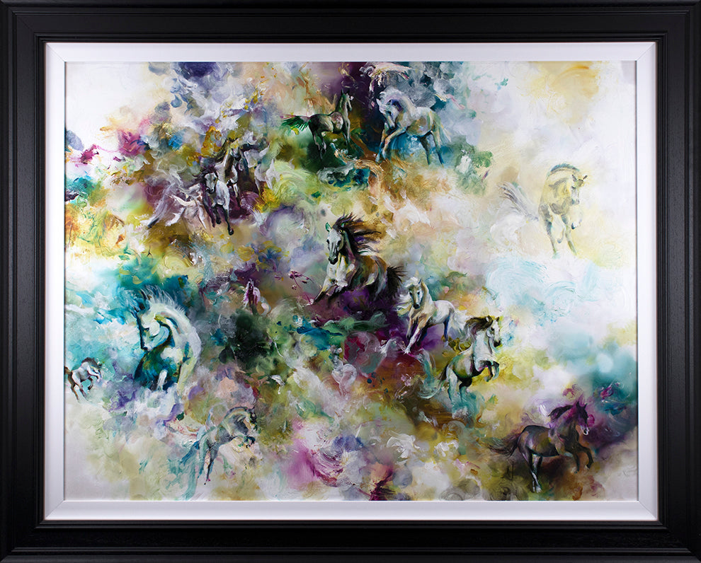 """Essence "" Botanical Collection by Katy Jade Dobson (framed original oil painting)"