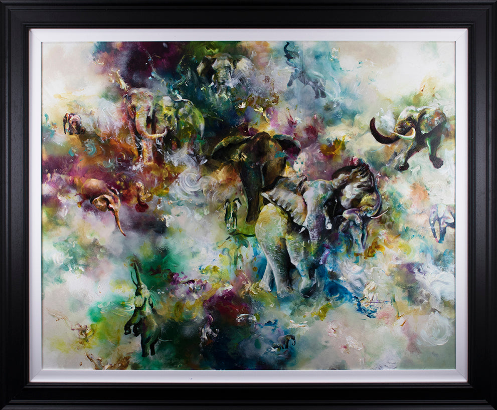 """Fuse "" Botanical Collection by Katy Jade Dobson (framed original oil painting)"