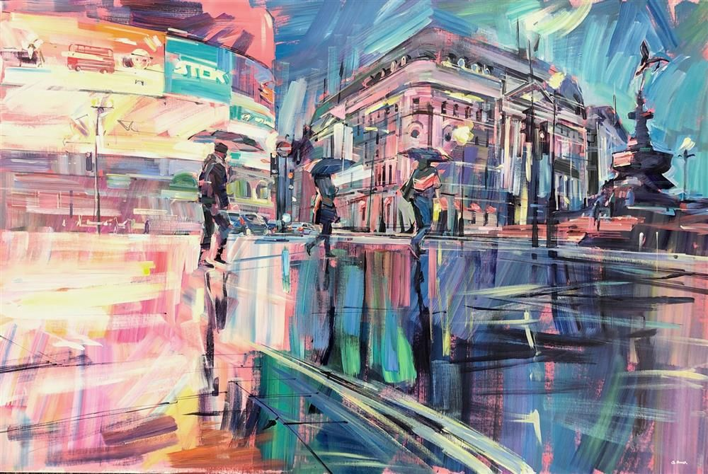 Colin Brown - 'Piccadilly Reflections' - Original Art