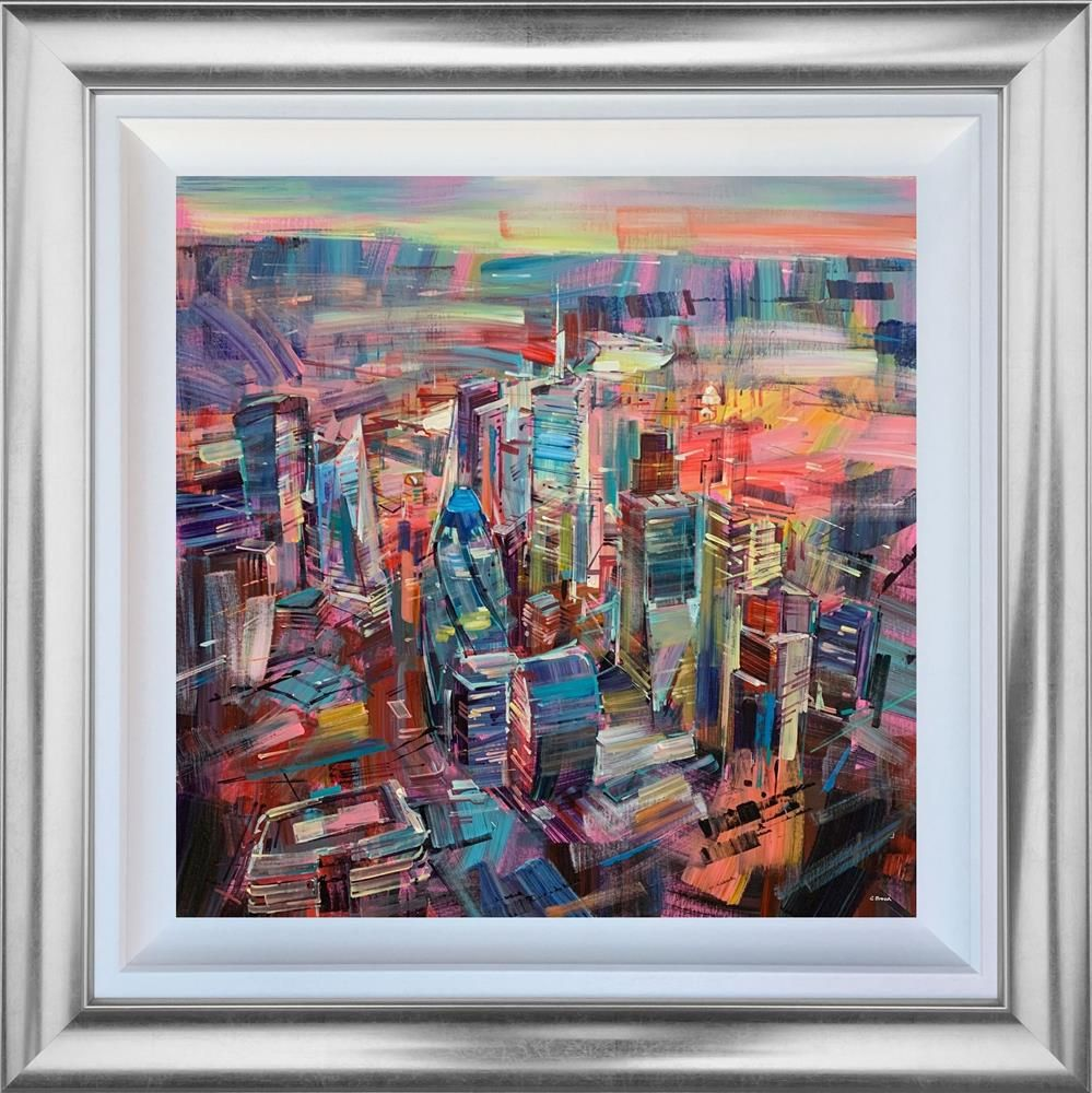 Colin Brown - 'The Banking District' (London) - Framed Original Art