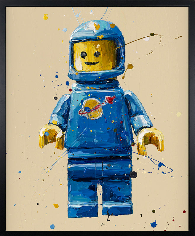 Paul Oz - 'Blue Lego Spaceman' - Limited Edition Print & Canvas
