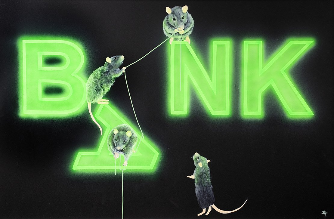 Dean Martin - 'Rats Fixing The Bank' - Limited Edition Art