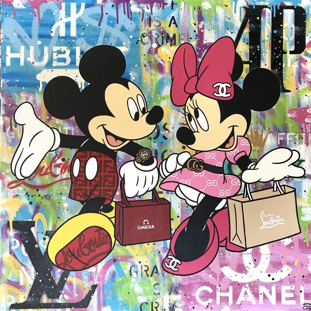 Emily Crook - 'Love At First Sight' (Mickey and Minnie) - Original Art