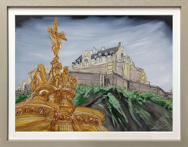 Edward Waite - 'Ross Fountain At Edinburgh Castle' - Original Art