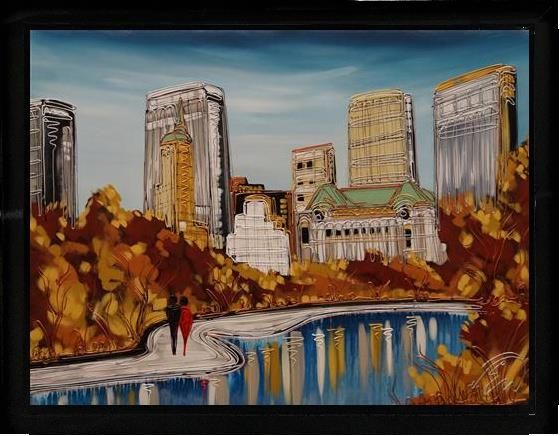 Edward Waite - 'Central Park Strolling'  - Original Art