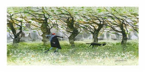 Sue Howells RWS - 'Windy Walkers' - Limited Edition Art