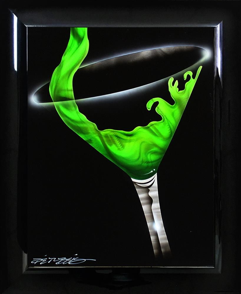 Chris DeRubeis - 'Martini Pour - Green 1705298' - Original Art