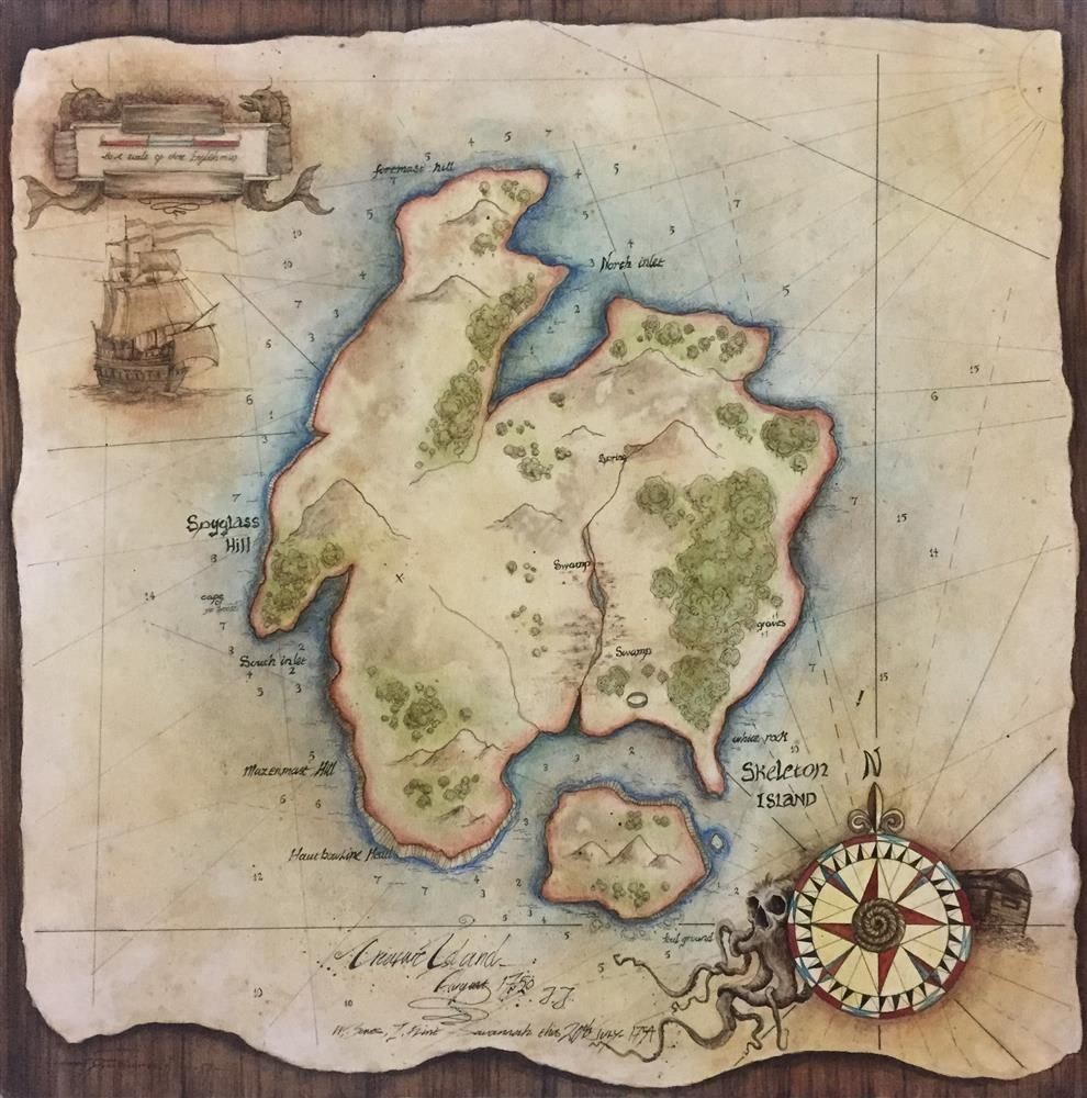 Dale Bowen - 'Treasure Map' - Original