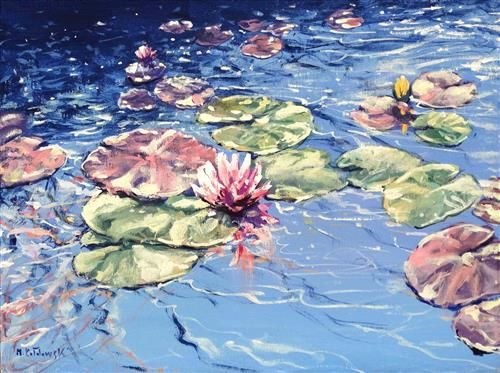 Mariusz Kaldowski - 'Waterlilies Song' - Original Art