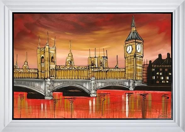 Edward Waite - 'Sunset Over The Parliament' - Original Art