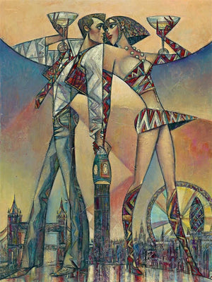 Andrei Protsouk - 'Big Ben Champagne (Large)' - Limited Edition Art