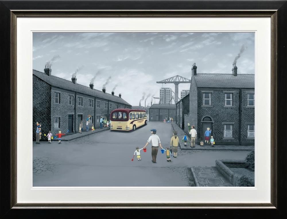 Leigh Lambert - 'All Aboard For The Seaside' - Paper - Limited Edition Art