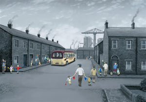 Leigh Lambert - 'All Aboard For The Seaside' - Canvas Deluxe - Limited Edition Art