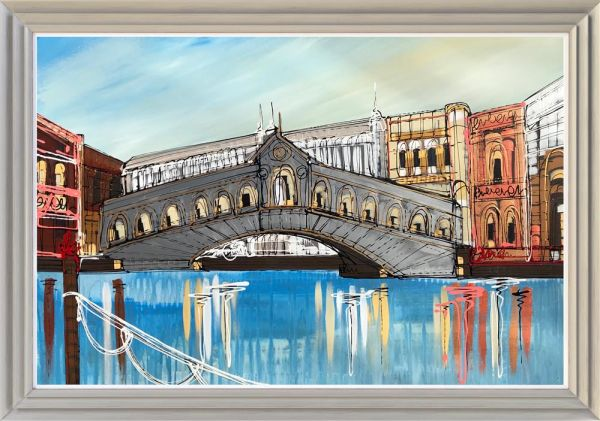Edward Waite - 'Blue Skies in Venice' - Original Art