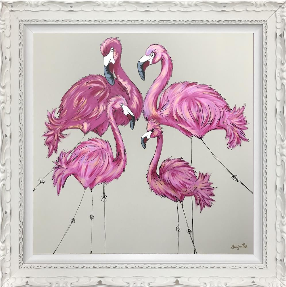 Amy Louise - 'Be A Flamingo' - Limited Edition Art
