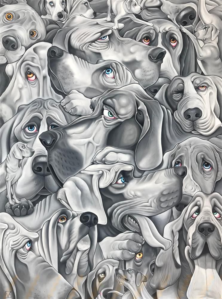 Michael Abrams - 'Heap Of Hounds' - Original Art