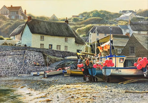 Duncan Palmar ARSMA - 'Evening Light Cadgwith Cove' - Original Art