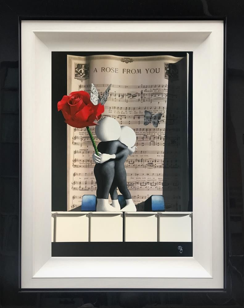 Mark Grieves - 'A Rose From You Butterfly' - Framed Original Art