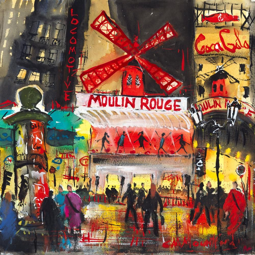 Carol Mountford - 'Moulin Rouge' - Limited Edition Art