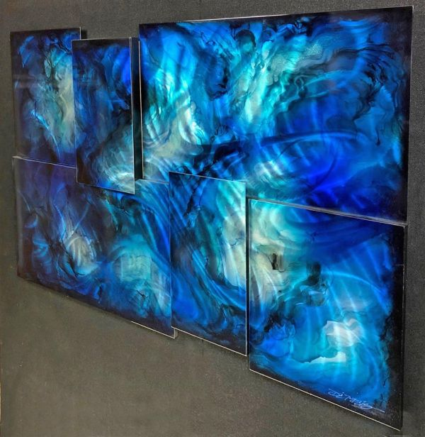 Chris DeRubeis - 'Mini Extreme 6 Panel Blue - 160701-5 Cons' - Original Art