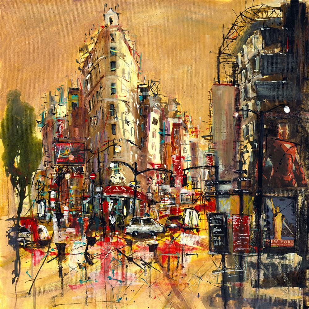 Carol Mountford - 'Flat Iron Building New York - Canvas' - Limited Edition Art