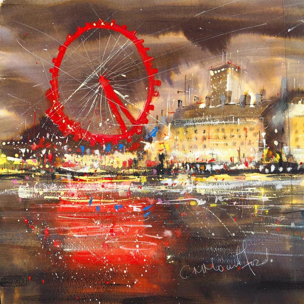 Carol Mountford - 'Millennium Wheel' - Limited Edition Art