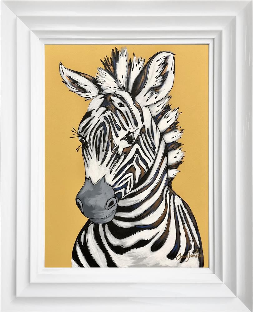 Amy Louise - 'My Best Striped Coat' - Framed Original Art