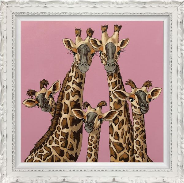 Amy Louise - 'High Five' - Rangwali Pink- Limited Edition Art