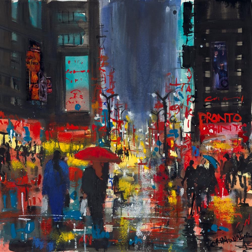 Carol Mountford - 'Rainy Manhattan' - Limited Edition Art