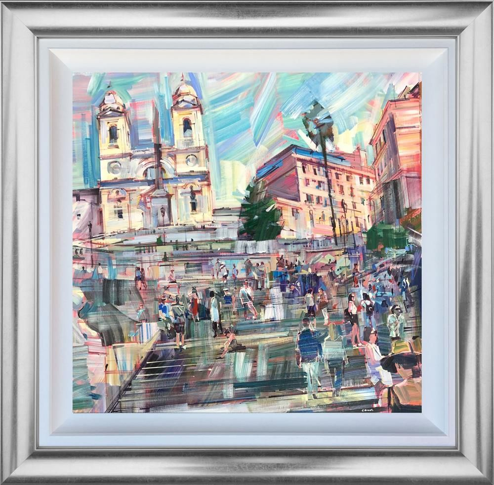 Colin Brown - 'Spanish Steps Rome' - Original Art
