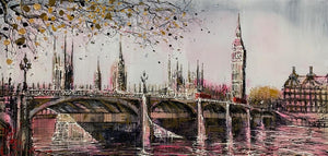 Nigel Cooke - 'Pink Haze Over London' - Original Art